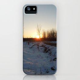 Winter Sunset - I iPhone Case