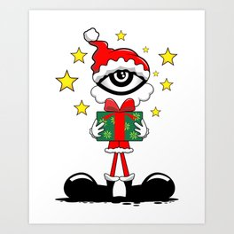 Eye Christmas II Art Print