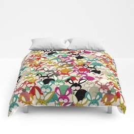 Colored  Easter bunny seamless pattern Comforters