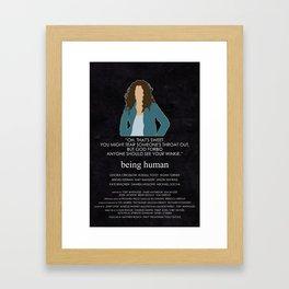 Being Human - Daisy Hannigan-Spiteri Framed Art Print