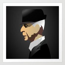 Leonard Cohen - RIP series Art Print