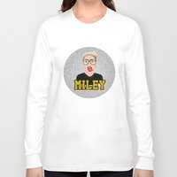 miley Long Sleeve T-shirts featuring Miley Cyrus by Jessica Guetta