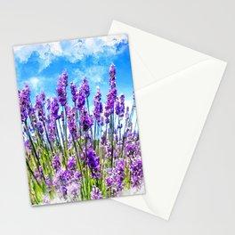 Lavender fields Stationery Cards