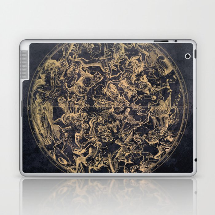 Vintage Constellations & Astrological Signs | Yellowed Ink & Cosmic Colour Laptop & iPad Skin