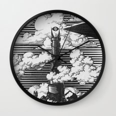 Lord of the Rings Mordor Tower Vintage Geek Art Wall Clock