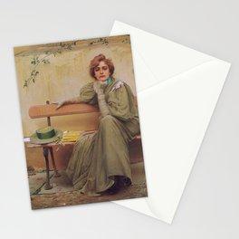 Vittorio Matteo Corcos - Sogni - Dreams - Victorian Belle Époque Retro Vintage Fine Art Stationery Cards