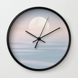 Moon Over Calm Waters Wall Clock