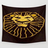 simba Wall Tapestries featuring Simba/Lion King by Jide