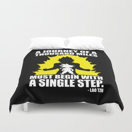 A Journey Of A Thousand Miles (Goku) Duvet Cover