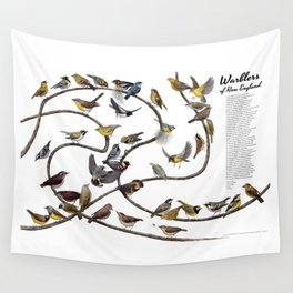 Warblers of New England Wall Tapestry