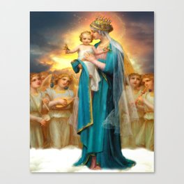 Our Lady of the Angels clouds Canvas Print
