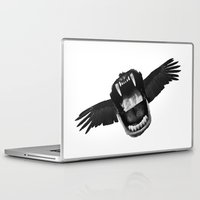 mouth Laptop & iPad Skins featuring Flappy Mouth by Nicholas Ely