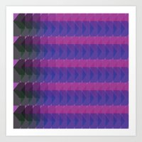 Going in Both Directions - Purple Art Print