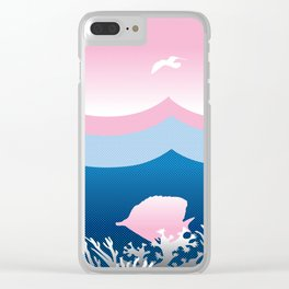 Dotty Sea and Sky Clear iPhone Case