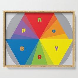 Color wheel by Dennis Weber / Shreddy Studio with special clock version Serving Tray