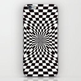 Checkered Optical Illusion iPhone Skin