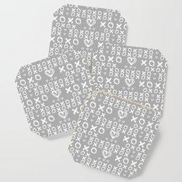XOXO in Gray Coaster