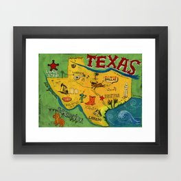 Postcard from Texas print Framed Art Print