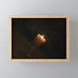 Love and candle Framed Mini Art Print