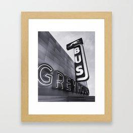 GREYHOUD BUS STATION Framed Art Print