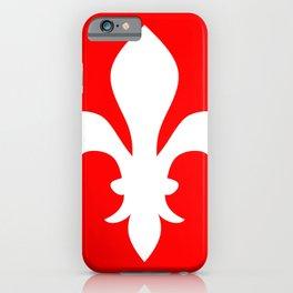 Fleur de Lis (White & Red) iPhone Case