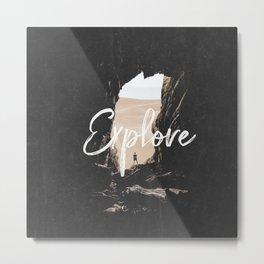 Explore a Cave in the Desert Metal Print