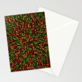 Autumn Ink Leaves Stationery Cards