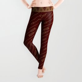 Arrows Flying (Maroon) Leggings