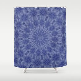 Blue and Mauve Abstract Kaleidoscope Shower Curtain