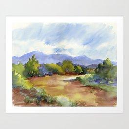 Distant Santa Fe Art Print