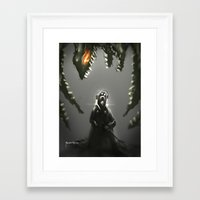 abyss Framed Art Prints featuring Abyss by Benedick Bana