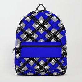 Combo black blue plaid Backpack