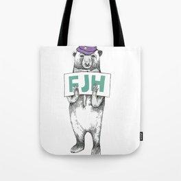 FJH-bear sign Tote Bag