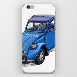 Blue 2CV iPhone Skin