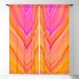 stripes wave pattern 3 stdi Blackout Curtain