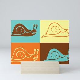 Snail (Illustration) Mini Art Print