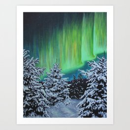 Northern Lights, Algonquin Park Art Print
