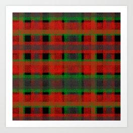 Red, green tartan plaid. Art Print