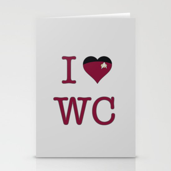 I Heart Wesley Crusher Stationery Cards