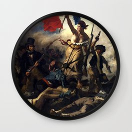 LIBERTY LEADING THE PEOPLE - EUGENE DELACROIX Wall Clock