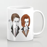 scully Mugs featuring mulder and scully by Bunny Miele