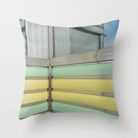 wisconsin Throw Pillows featuring Wisconsin Diner by Claire Elizabeth Stringer