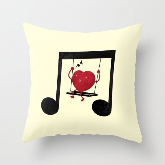 swing a LOVE song Throw Pillow