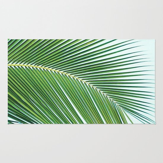 palm leaf greenery rug by gale switzer society6. Black Bedroom Furniture Sets. Home Design Ideas
