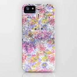 Elegant mandala confetti and watercolor floral iPhone Case