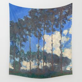 Poplars on the River Epte by Claude Monet Wall Tapestry