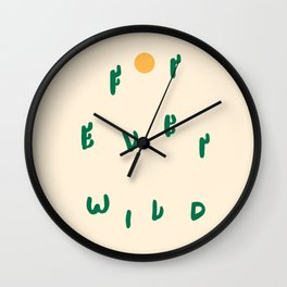 Forever Wild Cacti Wall Clock