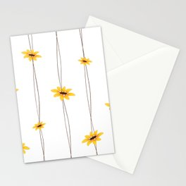 Simple Sunflower String Stationery Cards