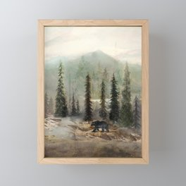 Mountain Black Bear Framed Mini Art Print