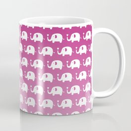 Elephants in Love (Pink) Coffee Mug